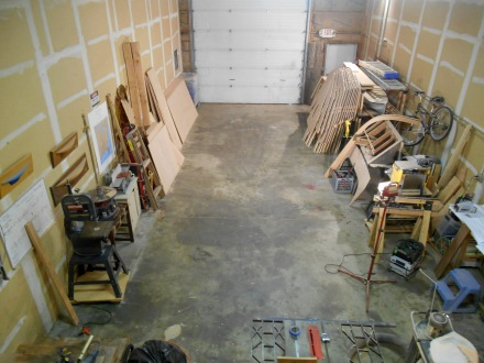 The shop is pretty much ready to go.  A lot of the stuff on the right will move during setup.