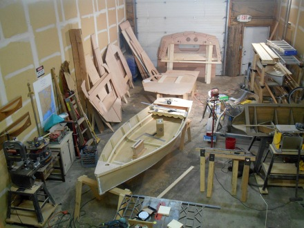 Shop is a disaster, but looking very boaty.