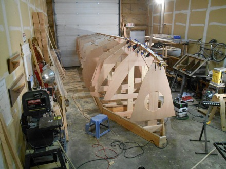 Whole keel glued up