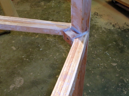 Stem glue-up.  Richard Beck is probably throwing up, but some biax tape and another 1/2 pound of epoxy, and it'll hold.