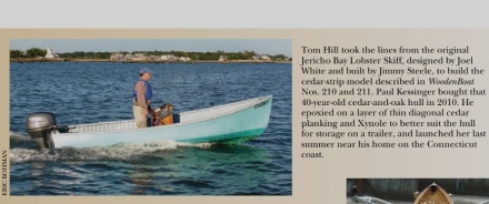 My Jericho Bay Lobster Skiff made the Launchings section of WoodenBoat!