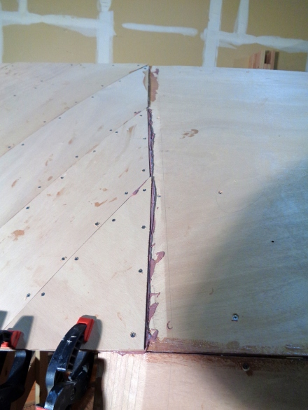 Diagonal ends mushed in epoxy