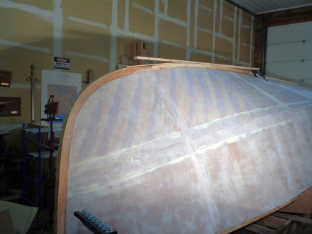 Keel laminations going on