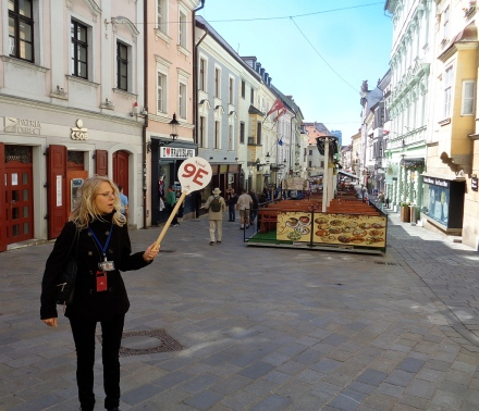 Charming guide in charming Bratislava, capital of Slovakia.