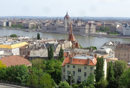 Our view from the Hilton Hotel in Buda.