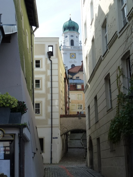 Passau, a wonderfully preserved city on the German/Austrian border