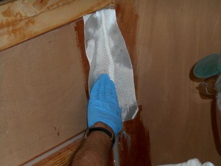 Applying regular woven tape