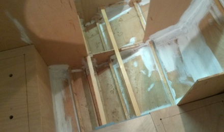 Floor joists looking aft