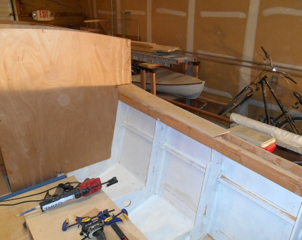 Curved part of side decks laminated.
