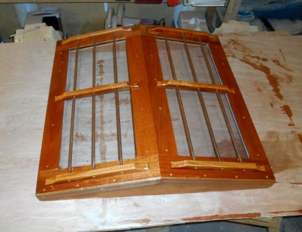 Hatch with sealer coat of varnish