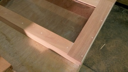 Frames are attached with Miller Dowels