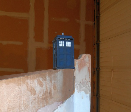 Tardis figurehead placement experiment.