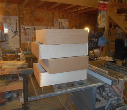 Dinette drawers.