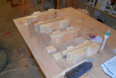 Day two -- starting from scratch on whole drawer structure.