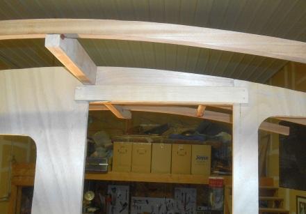 Cherry lintel inside.