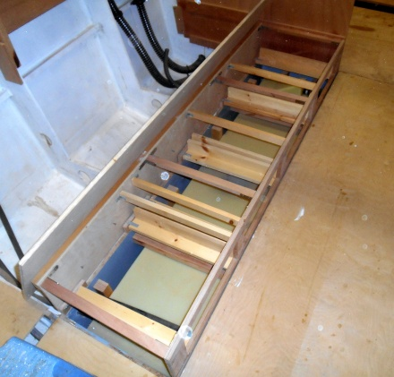 It seems to take a lot of structure to make four small drawers slide in and out.