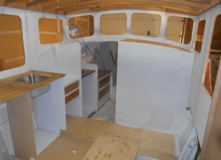 Deckhouse priming.