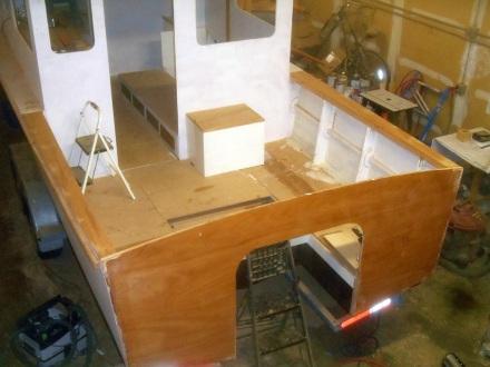 Cocpit side decks finished