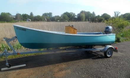 Got a really good paint job on the Jericho Bay Lobster Skiff this year