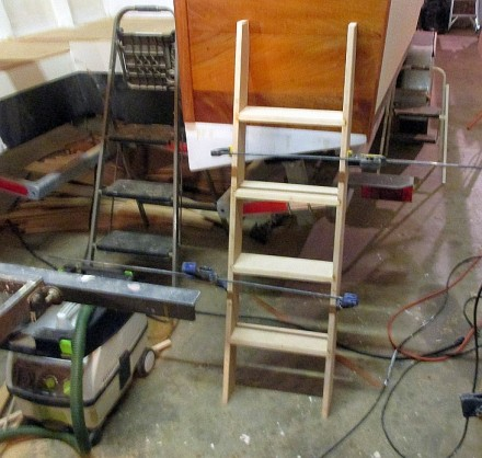 Ladder glue-up.