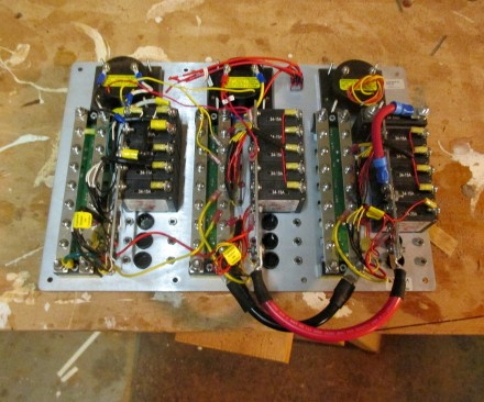 Panel wired up for installation