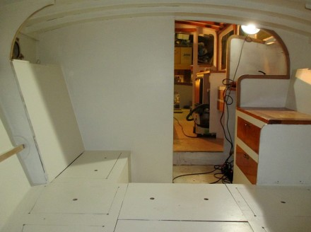 Starboard side of berth area