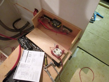 Switch/fuse box under construction