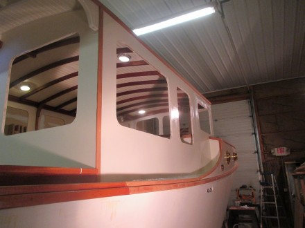 Deckhouse sides are looking pretty shiny
