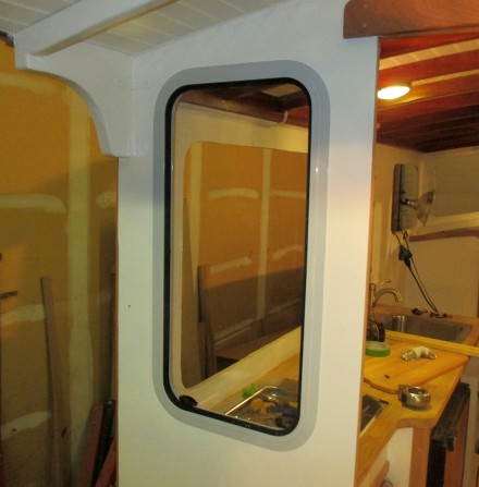First window installed